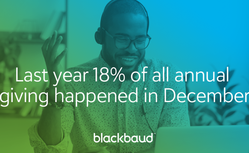 Blackbaud Europe's statistic on end of year giving in the UK