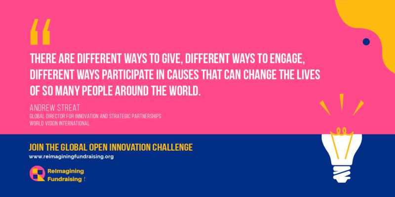 Reimagining Fundraising campaign quote