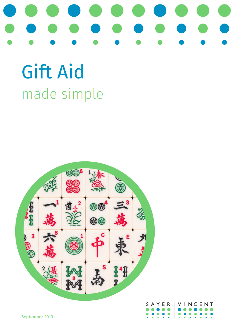 Gift Aid made simple - cover