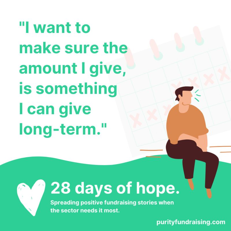 A visual quote from Purity Fundraising's 28 Days of Hope series