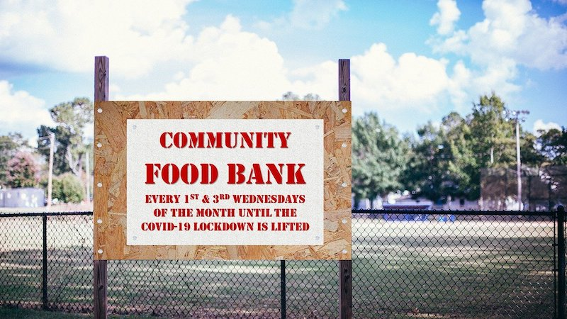 Community Food Bank sign