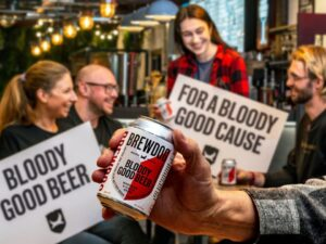 Bloody good beer for a bloody good cause