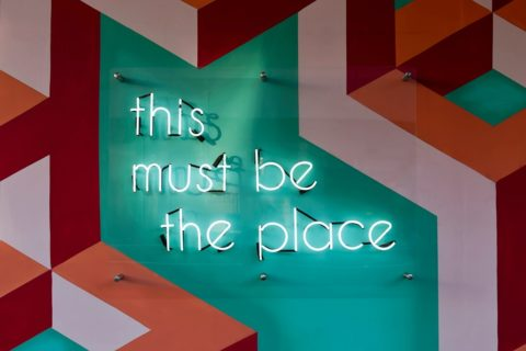 This must be the place - neon sign - image: Unsplash