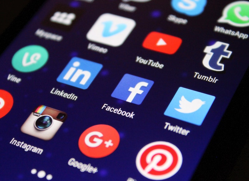 Phone homescreen with facebook app.