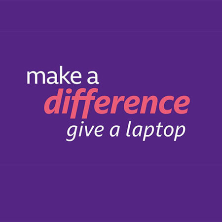 BBC's Make a Difference - give a laptop campaign image 2021