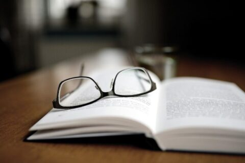 reading book & glasses