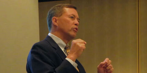 Blackbaud's Chuck Longfield speaking at IoF Convention 2010