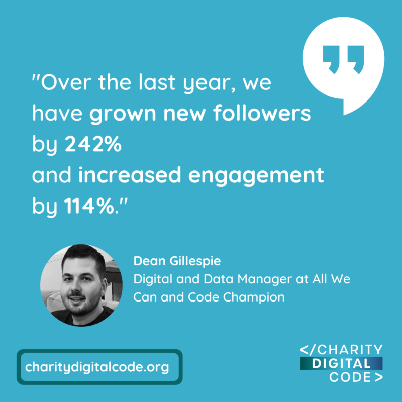 Dean Gillespie Digital and Data Manager All We Can