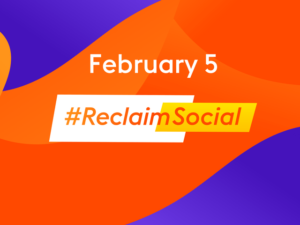 Charities urged to join in today's #ReclaimSocial campaign