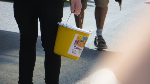 Collecting bucket at Colchester Carnival 2015