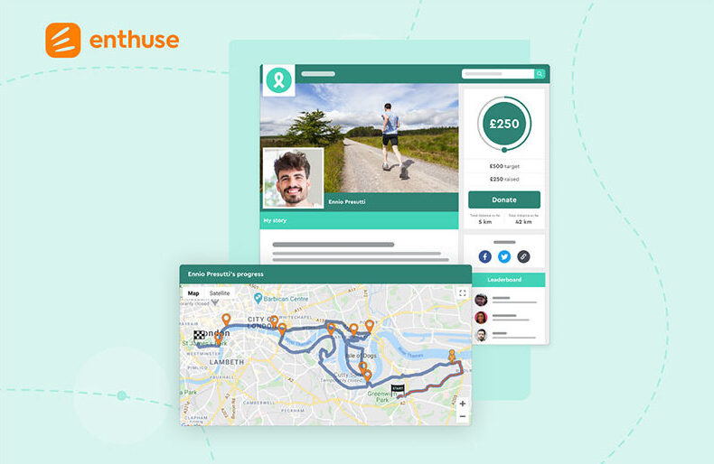 Enthuse's Virtual Journeys for fundraising