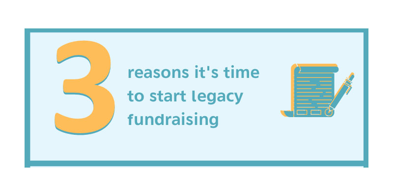 Three reason's it is time to start legacy fundraising