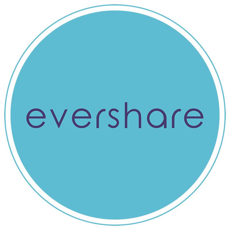 Evershare logo (blue circle on white background)