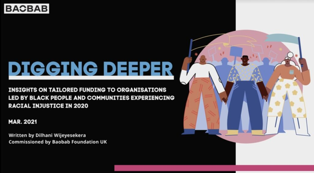 Cover of Digging Deeper report from BAOBAB Foundation