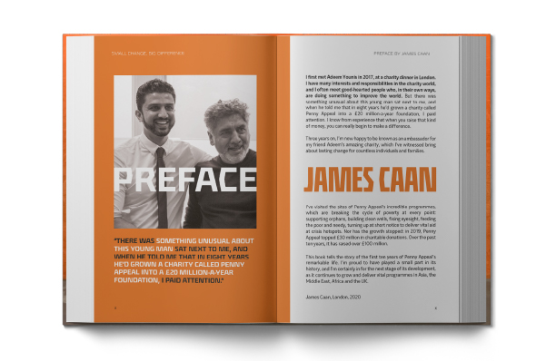 Preface by James Caan in Small Change Big Difference book