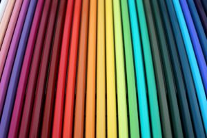 Rainbow coloured pencils - photo: Pexels and Pixabay