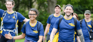 image of walkers doing Cystic Fibrosis's Great Strides challenge
