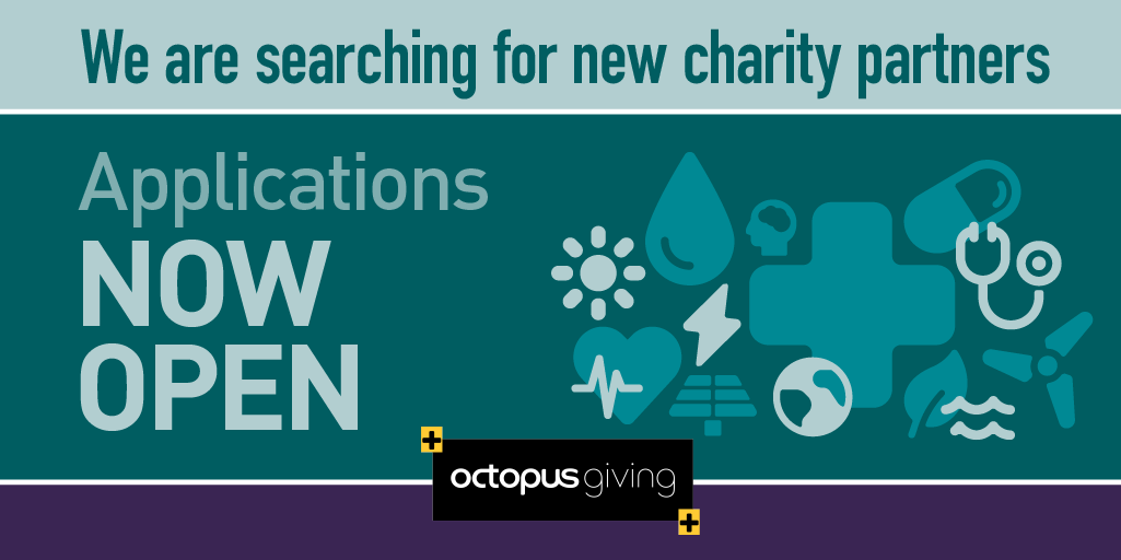 Octopus seeks two small charities for three-year partnerships