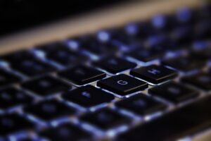 close up of laptop keys by Daniel Agrelo from Pixabay