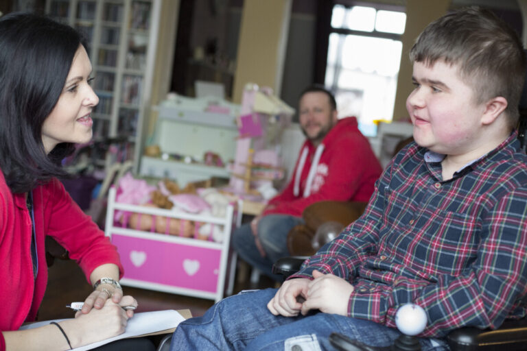 Weston Charity Award winner Disability North: Vici Richardson and her son, Zak