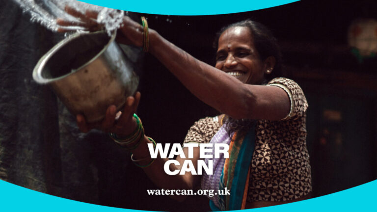 Water Can collective image of a woman in India collecting water