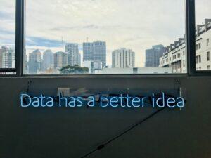 Data has a better idea - neon sign - photo: Unsplash