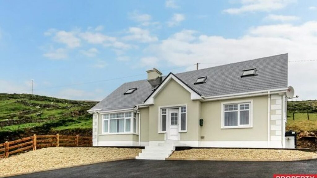 Front view of house on Arranmore Island, Ireland, being raffled via Raffall.co.