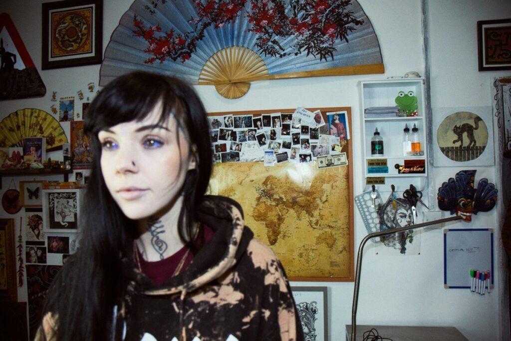 Tattoo artist Grace Neutral. Photo: ActionAid