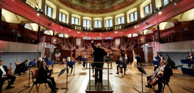 Oxford Philharmonic Orchestra performing in the Sheldonian Theatre, Oxford