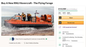 The Flying Farage GoFundMe campaign in aid of the RNLI by Simon Harris