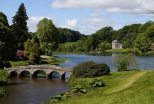 Stourhead looking out over the lake