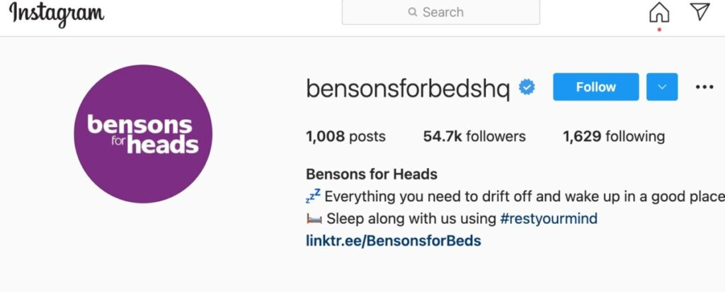 Bensons for Heads on Instagram