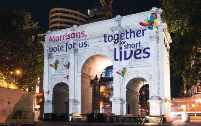 Charity lights up London landmarks in bid to become Morrisons partner
